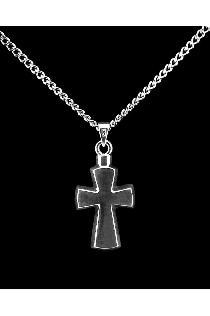 Sterling Silver Stylized Cross Cremation Pendant #36-518